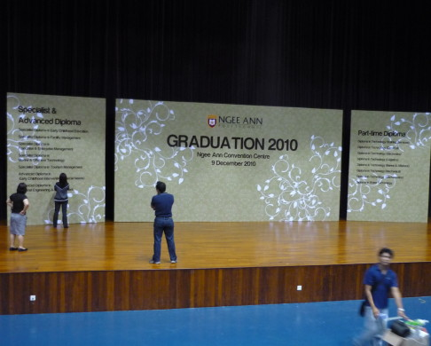 Ngee Ann Graduation Backdrop